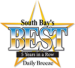 South bay's best 5 years in a row logo